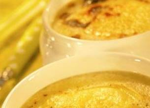 Soupe à l'oignon gratinée au Chaussée aux Moines