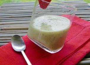 Soupe glacée aux kiwis
