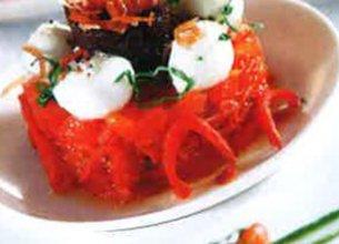 Tartare d'été à la mozzarella