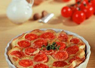 Tarte au Gorgonzola et aux tomates cerises