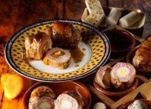 Trio de paupiettes surprise aux oeufs de caille, chèvre, abricots et nougat