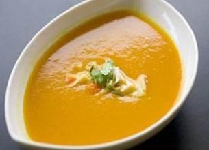 Velouté de carottes au yaourt