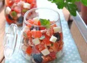 Verrines de tomates et Tomme de Brebis Lou Pérac