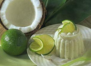 Yaourt à la Grecque aromatisé coco et citron vert