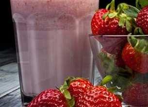 Yaourt frappé à la fraise