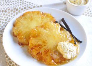 Ananas rôti et vanillé