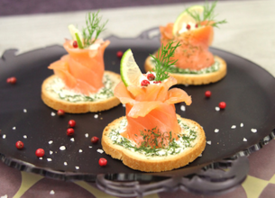 Bouchées de saumon farci au Rondelé