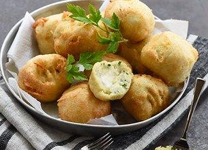 Croquettes de pommes de terre au Société Crème
