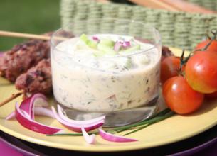 Brochettes kefta et sauce fraicheur au yaourt
