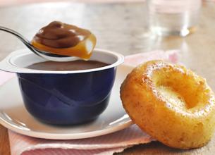 Mini savarins légers & Velours de crème Chocolat au lait et caramel La Laitière