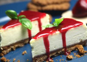 Cheesecake fraise basilic
