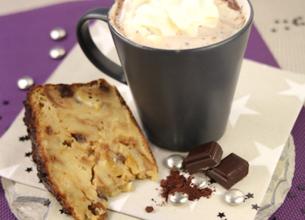 Chocolat chaud viennois et son pudding