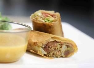 Croustillants de foie gras aux 5 épices, sauce aux agrumes