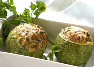Courgettes farcies aux 3 fromages
