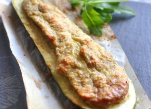 Courgettes farcies au cabillaud