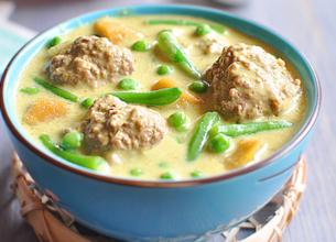 Curry de boulettes de boeuf