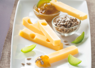 Emmental Grand Affiné et confiture de Reine-Claude
