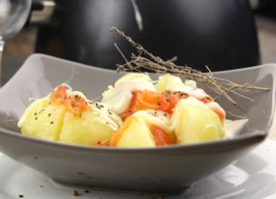 Fondue à la tomate et aux pommes de terre