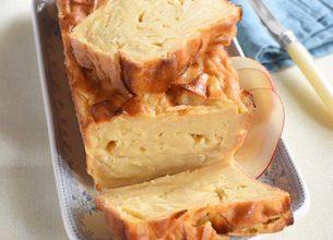 Gateau invisible aux pommes et caramel beurre salé