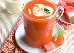 Gaspacho tomates pastèque et citron