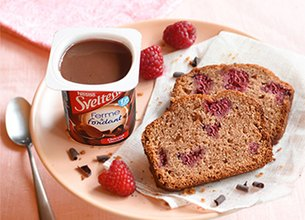 Cake framboises au Sveltesse chocolat