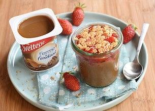 Crumble fraises et Sveltesse café