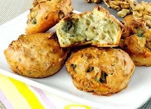 Muffins au Roquefort Société et aux noix