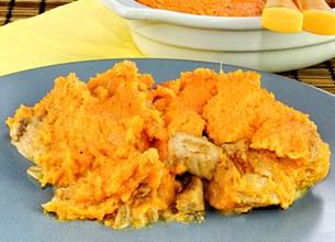 Parmentier de poulet aux patates douces et deux épices