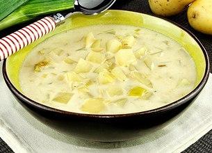 Soupe crémeuse au munster