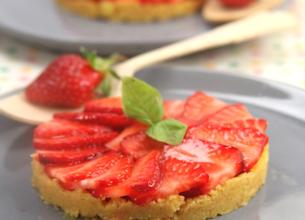 Minis tartelettes aux fraises et basilic