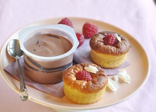 Moelleux chocolat blanc-framboise