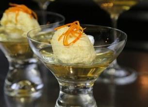 Mousse de clémentines sur gelée de champagne