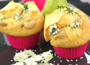 Muffin au Roquefort et aux poires