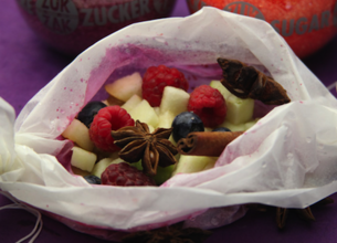 Papillote de fruits aux épices