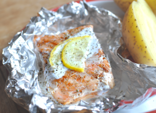 Papillotes de saumon au barbecue