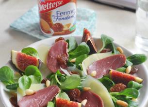 Menu : salade périgourdine + Sveltesse Saveur praliné façon Rocher