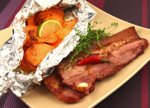 Poitrine de porc grillée