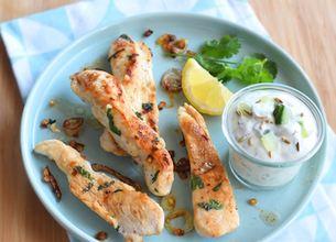 Poulet grillé à la sauce tzatziki