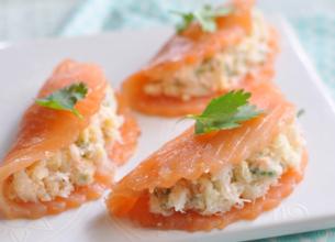 Ravioles de saumon