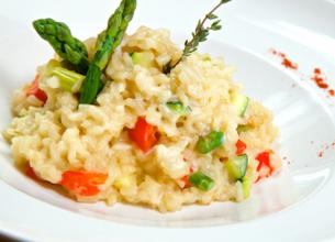 Risotto aux légumes de printemps et 3 fromages