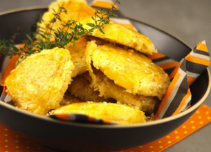 Petits sablés aux 3 fromages et graines de sésame