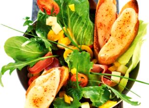 Salade de Tomme de Brebis chaud Lou Pérac