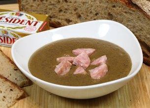 Soupe de lentilles et saucisse de Morteau