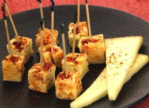 Sucettes de tortilla basque