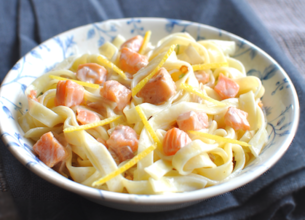 Tagliatelles au citron et au saumon