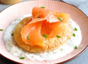 Tarte fine de saumon fumé