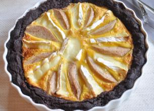 Tarte poire/chocolat au Roitelet