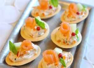 Mini-tartelettes au saumon et mascarpone