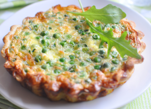 Tartelettes aux petits pois et 3 fromages
