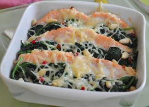 Tian de saumon aux épinards